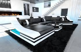 black and white furniture living room lighting grey tufted microsuede sectional sofa modern yellow round