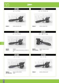 valeo column switches for passenger cars u0026 lcvs 2014 catalogue 956218