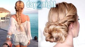 prom wedding party hairstyles last minute day to night updo