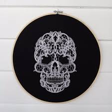 halloween embroidery hoops popsugar home