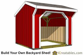 How To Build A Small Garden Shed by 10x10 Shed Plans Storage Sheds U0026 Small Horse Barn Designs