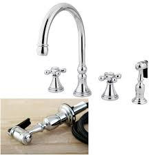 4 kitchen faucet chrome 4 cross handles kitchen faucet and sprayer free