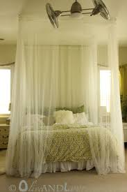 Sheer Bed Canopy Olive And Love Ceiling Mounted Bed Canopy
