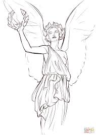 nike goddess of victory coloring page free printable coloring pages