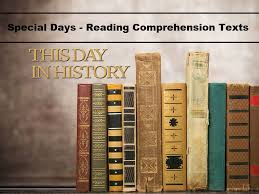 special days this day in history reading comprehension
