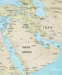 middle east map with countries physical map of southwest asia