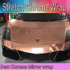 high flexible rose gold mirror film chrome vinyl wrapping film