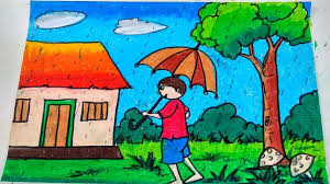 drawing lesson 141 how to draw a rainy day color draw tree a