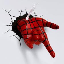 marvel 3d wall nightlight spider man hand target