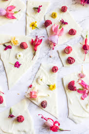 www edible white chocolate flower bark yes with edible flowers away from