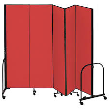 Portable Room Divider Screenflex Fsl685 6 8 H Portable Room Divider 5 Panels Schoolsin