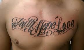 faith on chest