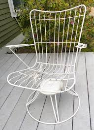 Wrought Iron Swivel Patio Chairs 50 U0027s Mid Century Homecrest Patio Swivel Rocker Wire Chair Bertoia