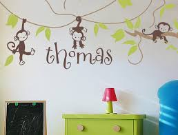 Personalized Name Wall Decals For Nursery by Vinyl Wall Decals Monkey Vines Personalized