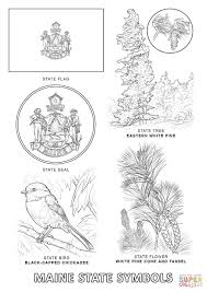 maine state symbols coloring page free printable coloring pages