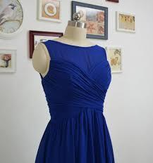 short royal blue bridesmaid dresses a line chiffon bridesmaid