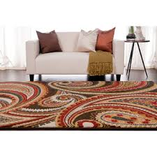Paisley Area Rugs Contemporary Brown Green Paisley Floral Folkestone Area Rug 7 10
