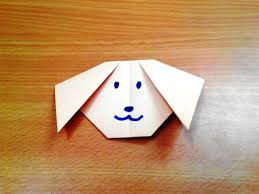 how to make an origami dog face step by step youtube