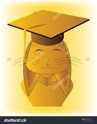 buy graduation cap rabbit bust in yellow graduation cap and costume on green