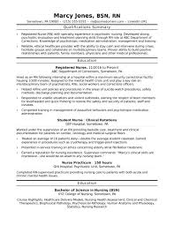 resume skills and qualifications exles for a resume registered nurse rn resume sle monster com
