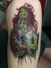 zombie nurse tattoo by yourfavoritezombie deviantart com on