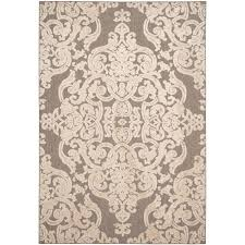 Safavieh Outdoor Rugs Safavieh Monroe Taupe 4 Ft X 6 Ft Indoor Outdoor Area Rug