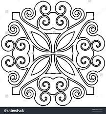 outline floral decoration vector ornament stock vector 37138534