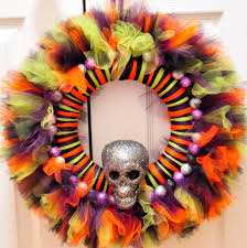 How To Make Halloween Wreath With Mesh by Tulle Wreath Shop For Cheap 2015 Wreaths Decor Ideas Tulle