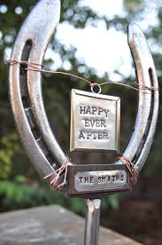 personalized horseshoes personalized horseshoe wedding cake topper for western weddings