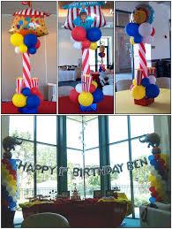 circus balloon balloons on the run party decorations r us theme balloon decor