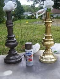 Spray Painting Brass Light Fixtures How To Spray Paint L Bases Home Decor Paints Techniques