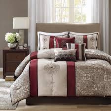 com madison park donovan 7 piece comforter set queen red home u0026 kitchen