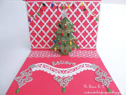 pop up christmas cards pop up christmas tree card project tutorials