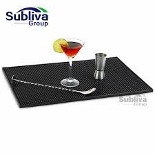 tapis cuisine noir rectangle caoutchouc bière bar service déversement mat pour