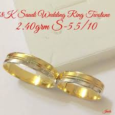 saudi gold wedding ring 18k saudi gold wedding ring pair luxury accessories on carousell