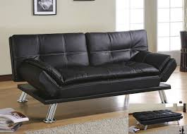 Futon Leather Sofa Bed Deena Black Bycast Leather Futon Sofa Bed Modern Futon Bed