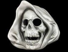 bbu1788 death before dishonor grim reaper skull tattoo design belt
