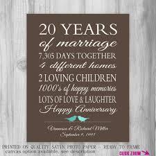 20 year anniversary gift 20 year anniversary gift for parents 20th anniversary present