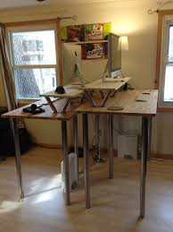 Ikea Height Adjustable Desk by Standing Desk Ikea My New Standing Desk Built From Various Ikea