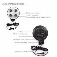 photo video studio lighting kit 4 socket e27 lamp holder softbox