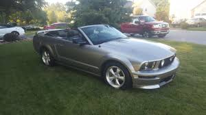 Black 2008 Mustang 2008 Mustang Gt Convertible Grey With Black Top Black Leather 5