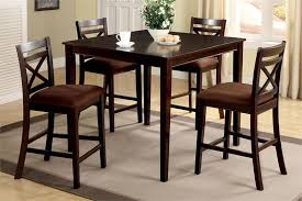 high table with four chairs 42 weston ii square espresso counter height set wood counter