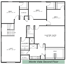Garage Loft Floor Plans Silverthorne Homes The Monte Vista Floor Plan Silverthorne Homes