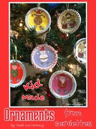kid made ornaments from serviettes teach me