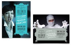 office party flyer halloween costume party poster template design