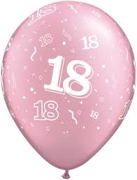 balloons for 18th birthday 18th birthday balloons pink 18th a birthday balloons