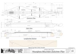 hourglass mountain dulcimer plan electronic version georgia