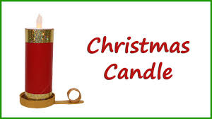 christmas candle craft for kids youtube