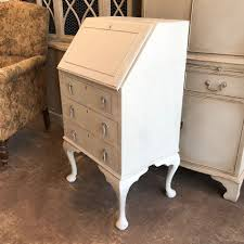 bureau writing desk vintage grey country farmhouse painted bureau writing desk