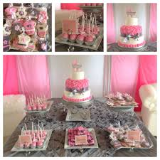 candy bar baby shower baby shower cake and candy table lovely girl baby shower cake table